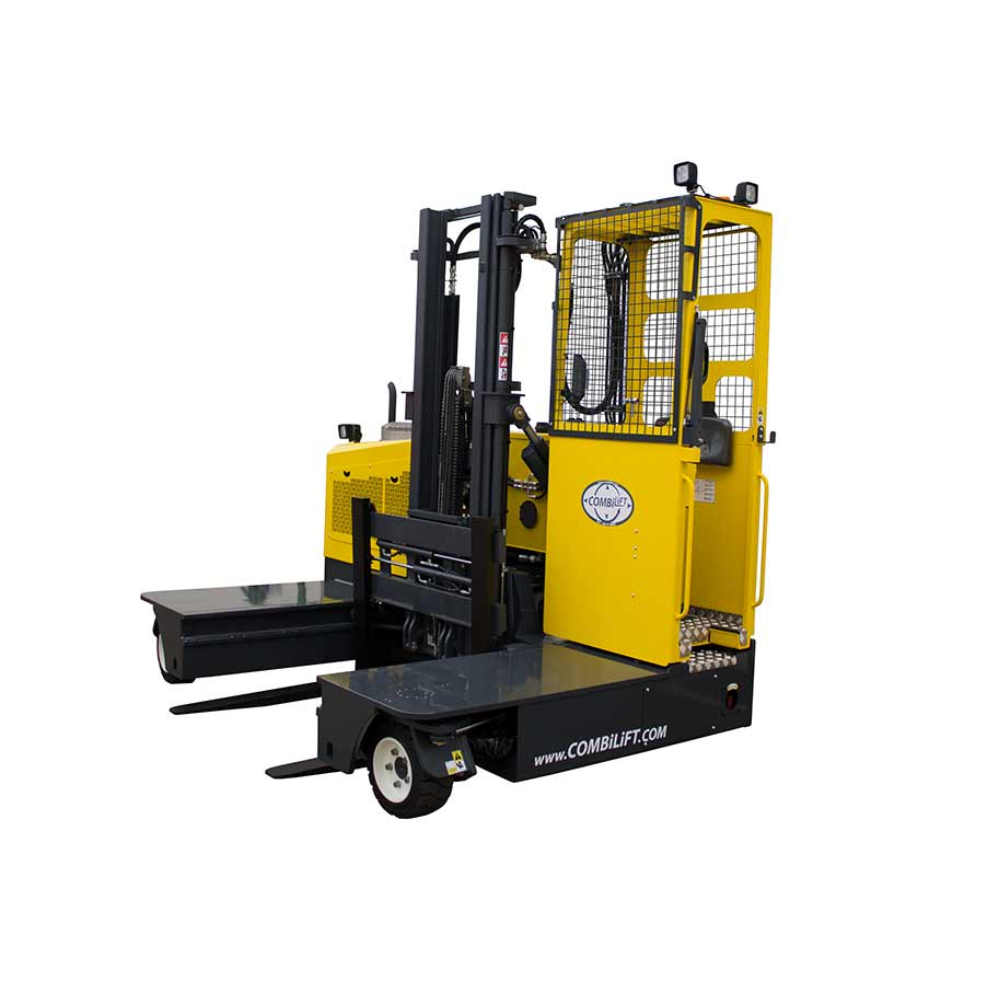 stand on sideloader lift truck